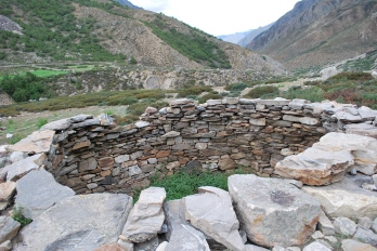 This is a traditional trap used to catch snow leopards in Limi Valley, Humla. If the villagers know there is a snow leopard in the area they will sacrifice a goat to entice the leapord into the trap.