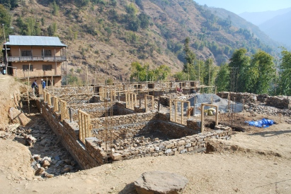 The second major school project in the very remote village of Phedi, in the district of Diktel. It was a full two day walk from a remote airstrip of Tumlingtar