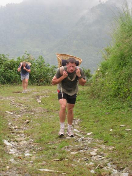 As part of the Nepali Language Course all Brigade of Gurkha Officers complete the Dhoko Race, which all potential Gurkha Soldiers need to pass as part of their selection process. The route is 5km and has a height gain of 500m. Individuals have to complete it in under 48 mins carrying a load of 25kg (55lb). I came 5th out of 12 and did it in 46 mins. Respectable but not ground breaking.