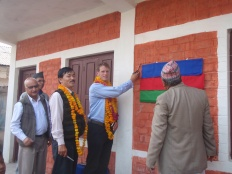 Prem Saheb and I opening a minor school extention project in Damak, 2009