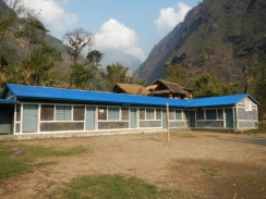 Looking at a GWS school in Chiruwa on the to Kanchengjunga base camp