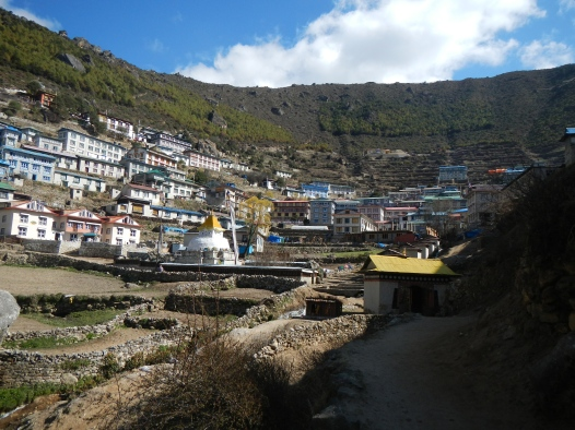 Namche. A large Sherpa town on the way to Everest Base Camp.