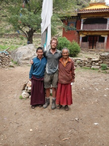 The friendly Lama and monk who let me stay in their monastery when I couldn't find anywhere else to stay in Huricot.