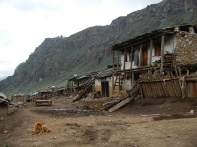 A small old village on the way to Lake Rara