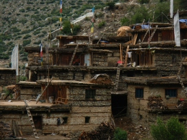 Traditional village houses in Humla.