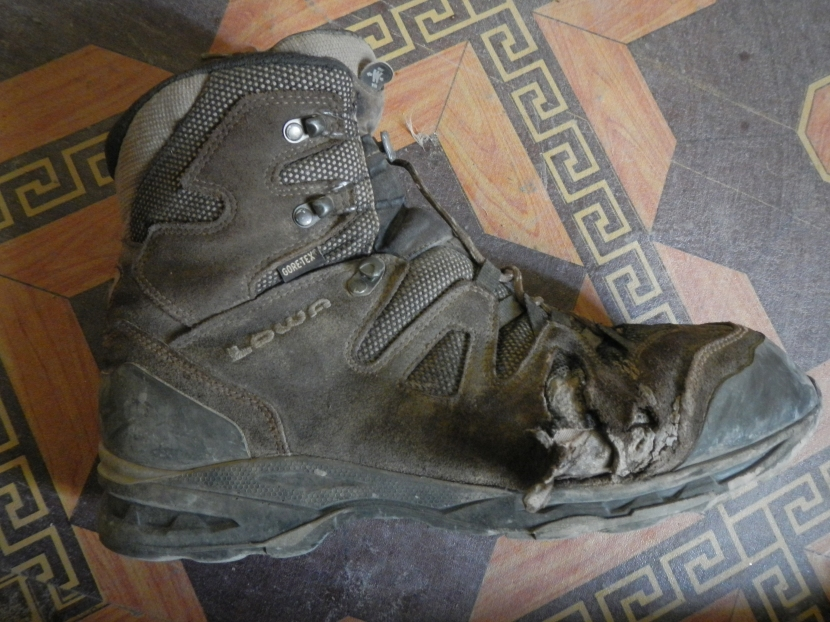 The boots had seen better days by the time I had finished.