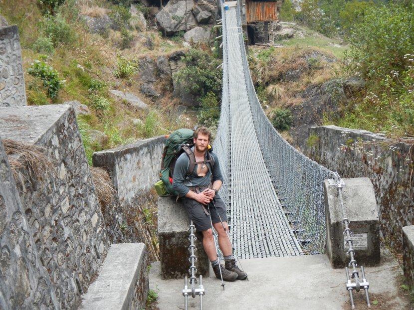 Inspecting one of KAAA bridges at Sekathum village